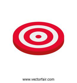 target shooting on white background
