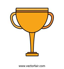trophy gold in white background