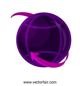 online activities, around world connection digital flat style icon