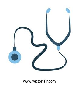 online doctor, stethoscope diagnostic consultant medical protection covid 19, flat style icon