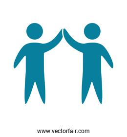 happy friendship day celebration peope handshake gesture silhouette style icon