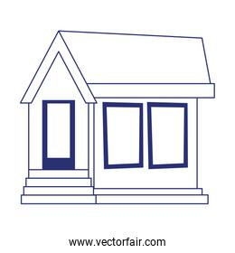 house property architecture entrance residential isolated icon line style