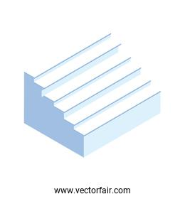 stairs of indoors on white background