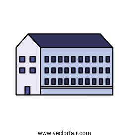 school building on white background
