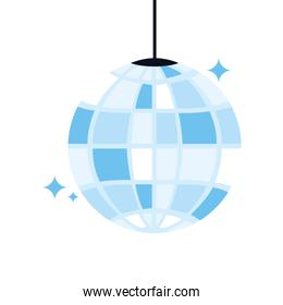 disco ball on white background