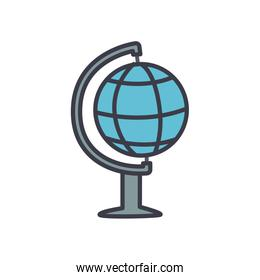 geography tool icon, flat style
