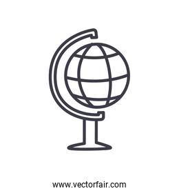 geography tool icon, line style