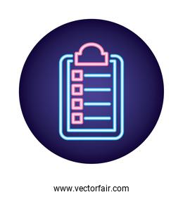 medical order document neon  style icon