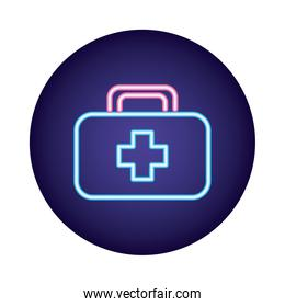 medical kit with cross neon  style