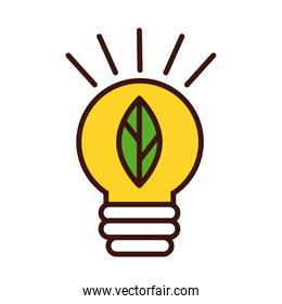 ecology bulb with leaf line and fill style