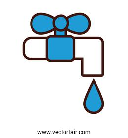 water faucet line and fill style icon