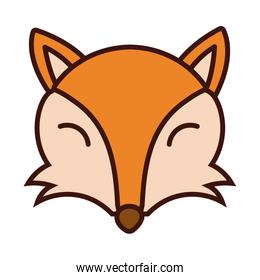 fox animal line and fill style icon