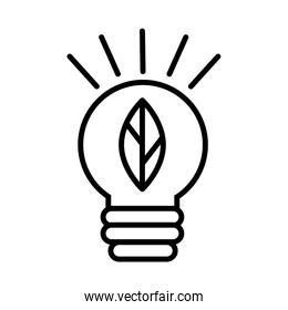 ecology bulb with leaf line style
