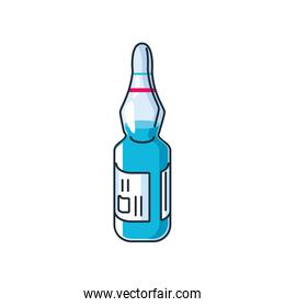 ampoule vaccine on white background