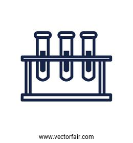 stand with test tubes icon, line style