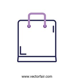 shopping bag icon, line color style