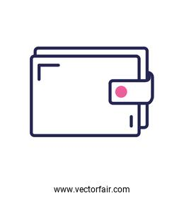 wallet icon, line color style