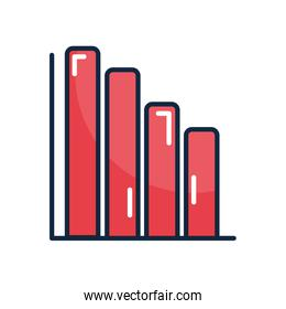 graphic bar chart icon, line color style