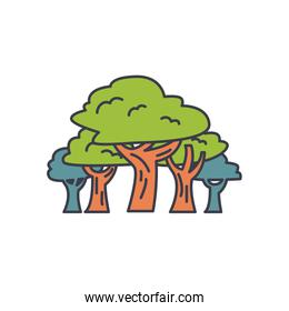trees plants icon, fill style