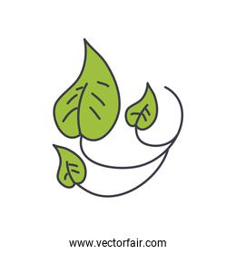 leaves nature icon, fill style