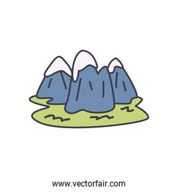 snowy mountains icon, fill style
