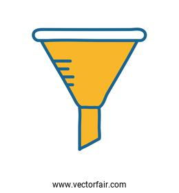 Science funnel line and fill style icon vector design