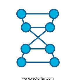 Isolated dna structure line and fill style icon vector design
