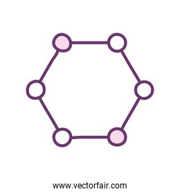 Isolated atom line style icon vector design