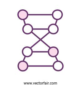 Isolated dna structure line style icon vector design