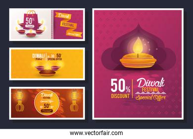 Diwali Festival Indian Offer sets Design