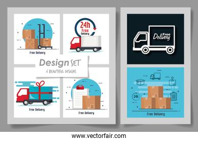 Six designs of delivery and logistics