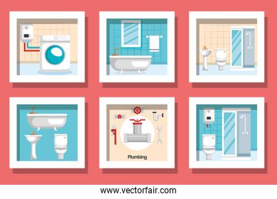 bundle designs of plumbing and icons