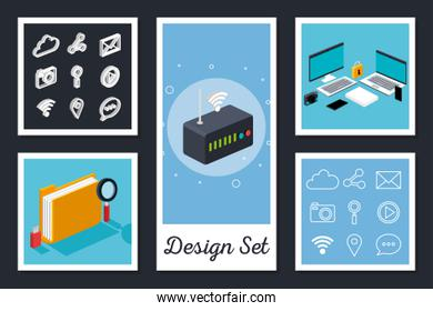 designs set of devices electronics