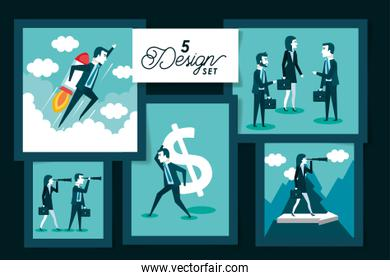 five designs of business people