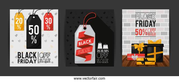 black friday sale poster with bundle of cards