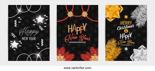 bundle of happy new year cards
