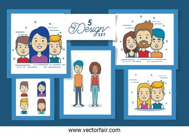 five designs of young people
