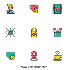 bundle of valentines day icons