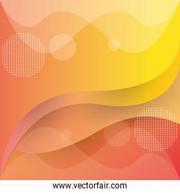 orange waves colors abstract background