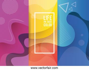 bundle of waves colors with life in color abstract background