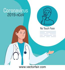 doctor female with recommendation of 2019 ncov