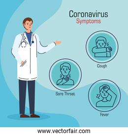 doctor with symptoms of coronavirus 2019 ncov
