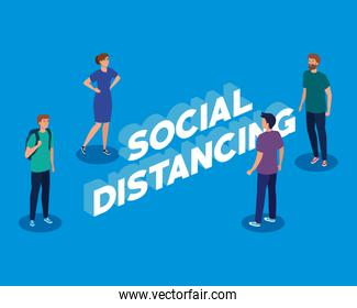 campaign of social distancing for covid 19 with young people
