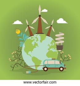 save the nature campaign with world planet