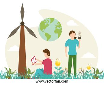 save the nature campaign with people and planet earth