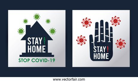 stay at home to stop the covid19 signal