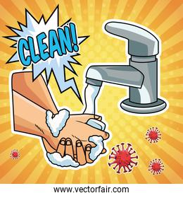 hands washing prevention method covid19 pandemic