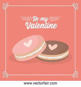 happy valentines day sweet cookies love hearts lovely