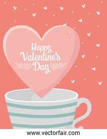 happy valentines day coffee cup sweet heart love