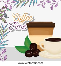 cup disposable cup seeds aroma fresh beverage coffee time